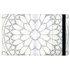 Roses Stained Glass Apple Ipad 2 Flip Case
