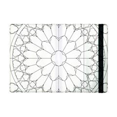 Roses Stained Glass Apple Ipad Mini Flip Case