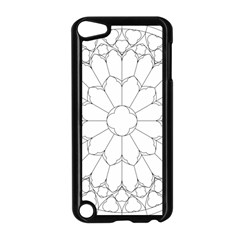 Roses Stained Glass Apple Ipod Touch 5 Case (black)