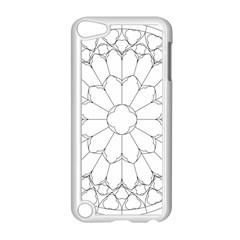 Roses Stained Glass Apple Ipod Touch 5 Case (white)