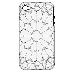Roses Stained Glass Apple Iphone 4/4s Hardshell Case (pc+silicone)