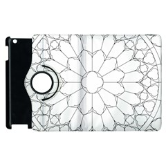 Roses Stained Glass Apple iPad 2 Flip 360 Case