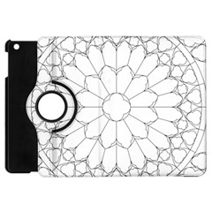 Roses Stained Glass Apple Ipad Mini Flip 360 Case