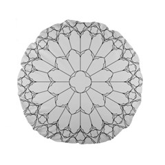 Roses Stained Glass Standard 15  Premium Round Cushions