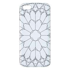 Roses Stained Glass Apple Iphone 5 Premium Hardshell Case