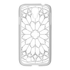 Roses Stained Glass Samsung Galaxy S4 I9500/ I9505 Case (white)