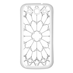 Roses Stained Glass Samsung Galaxy S3 Back Case (white)