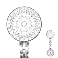 Roses Stained Glass Stainless Steel Nurses Watch