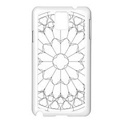 Roses Stained Glass Samsung Galaxy Note 3 N9005 Case (white)