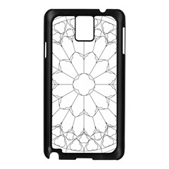 Roses Stained Glass Samsung Galaxy Note 3 N9005 Case (black)