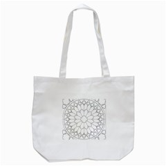 Roses Stained Glass Tote Bag (white)