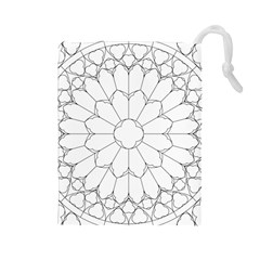 Roses Stained Glass Drawstring Pouches (large)
