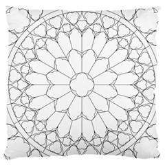 Roses Stained Glass Large Flano Cushion Case (one Side)