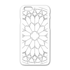 Roses Stained Glass Apple Iphone 6/6s White Enamel Case