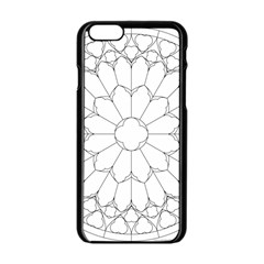 Roses Stained Glass Apple Iphone 6/6s Black Enamel Case