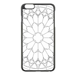 Roses Stained Glass Apple Iphone 6 Plus/6s Plus Black Enamel Case