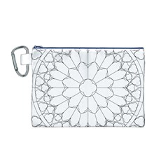 Roses Stained Glass Canvas Cosmetic Bag (m)