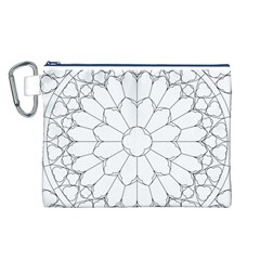 Roses Stained Glass Canvas Cosmetic Bag (l)
