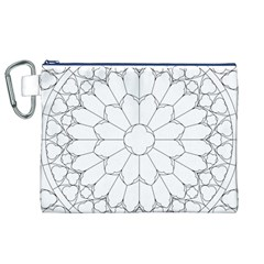 Roses Stained Glass Canvas Cosmetic Bag (xl)