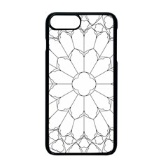 Roses Stained Glass Apple Iphone 7 Plus Seamless Case (black)