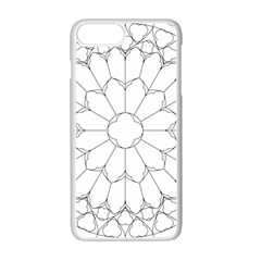 Roses Stained Glass Apple Iphone 7 Plus White Seamless Case