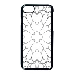 Roses Stained Glass Apple Iphone 7 Seamless Case (black)