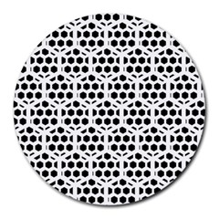 Seamless Honeycomb Pattern Round Mousepads