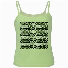 Seamless Honeycomb Pattern Green Spaghetti Tank