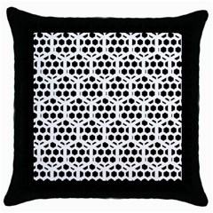 Seamless Honeycomb Pattern Throw Pillow Case (Black)