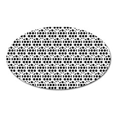 Seamless Honeycomb Pattern Oval Magnet