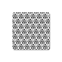Seamless Honeycomb Pattern Square Magnet