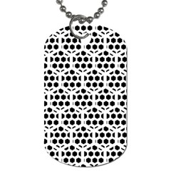 Seamless Honeycomb Pattern Dog Tag (one Side)