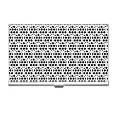 Seamless Honeycomb Pattern Business Card Holders