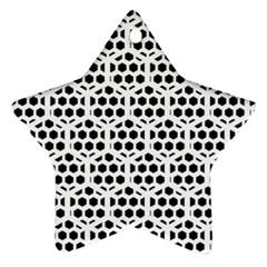 Seamless Honeycomb Pattern Star Ornament (two Sides)