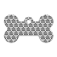 Seamless Honeycomb Pattern Dog Tag Bone (One Side)