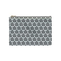 Seamless Honeycomb Pattern Cosmetic Bag (medium)