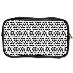 Seamless Honeycomb Pattern Toiletries Bags 2 Side