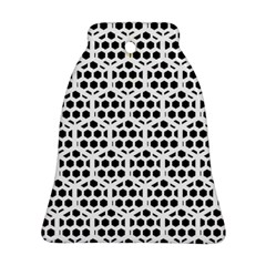 Seamless Honeycomb Pattern Bell Ornament (2 Sides)