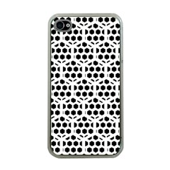 Seamless Honeycomb Pattern Apple Iphone 4 Case (clear)