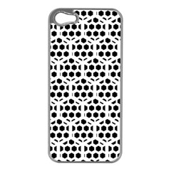 Seamless Honeycomb Pattern Apple Iphone 5 Case (silver)