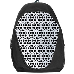 Seamless Honeycomb Pattern Backpack Bag