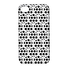 Seamless Honeycomb Pattern Apple Iphone 4/4s Hardshell Case With Stand