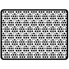 Seamless Honeycomb Pattern Double Sided Fleece Blanket (large)