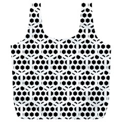 Seamless Honeycomb Pattern Full Print Recycle Bags (l)