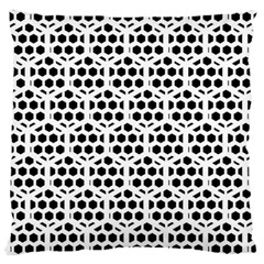 Seamless Honeycomb Pattern Standard Flano Cushion Case (one Side)