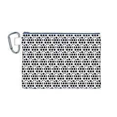 Seamless Honeycomb Pattern Canvas Cosmetic Bag (m)