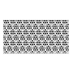 Seamless Honeycomb Pattern Satin Shawl