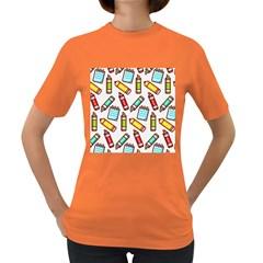 Seamless Pixel Art Pattern Women s Dark T Shirt