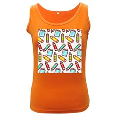Seamless Pixel Art Pattern Women s Dark Tank Top