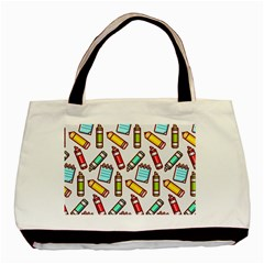 Seamless Pixel Art Pattern Basic Tote Bag